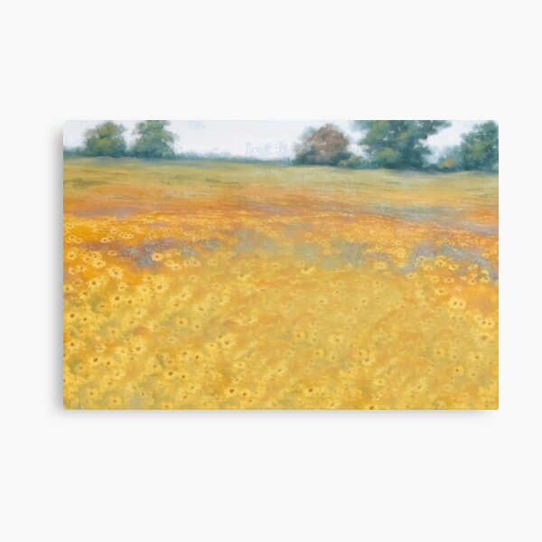 wildflower mural Canvas Print