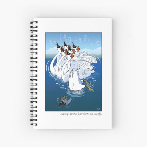 Seven Swans A Swimmin' Spiral Notebook