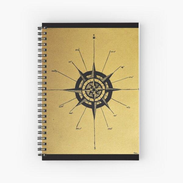 Nautical Compass Spiral Notebook
