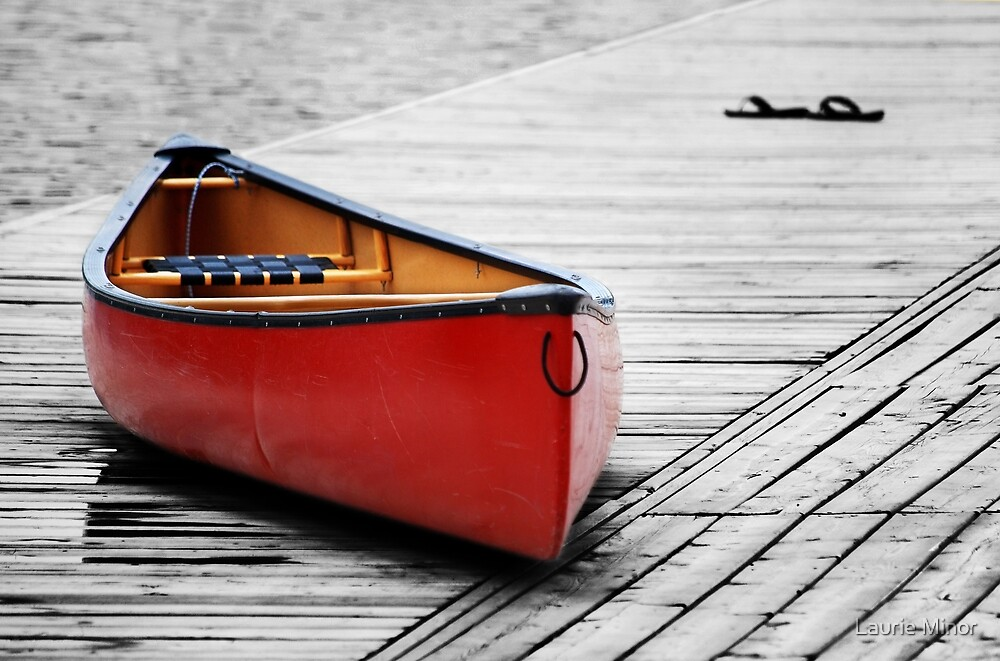 The Red Canoe  by Laurie Minor