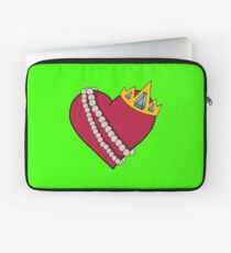 Queen of hearts geek funny nerd Laptop Sleeve