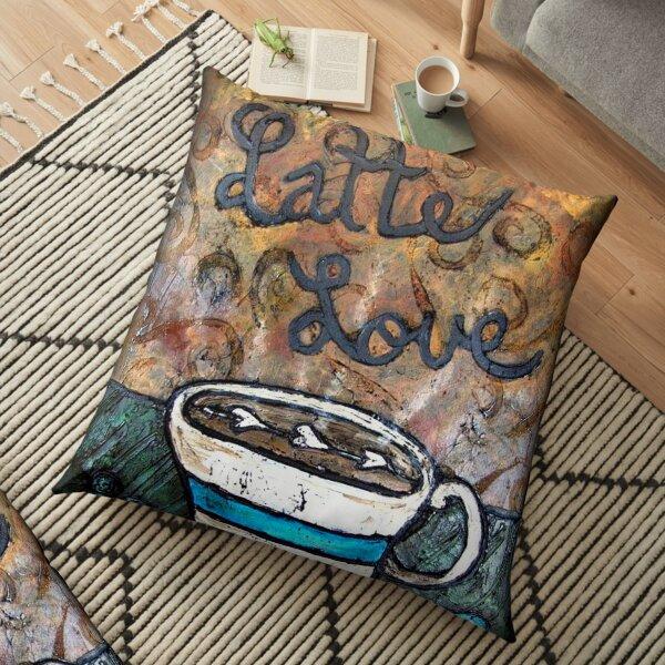 Latte Love, Coffee Lovers Dream Floor Pillow