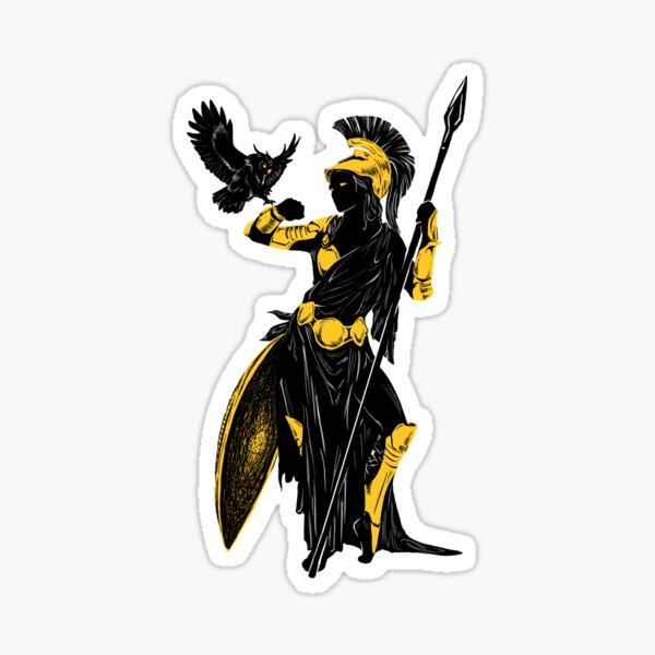 Athena Silhouette Sticker