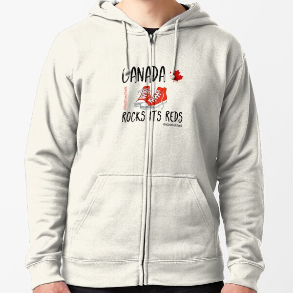 Canada Rocks Its Reds Zipped Hoodie