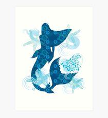 Mermaid Starfish Underwater Art Print