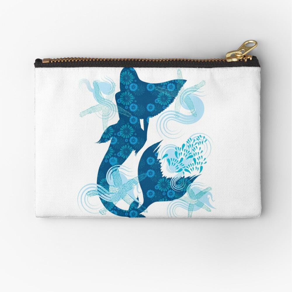 Mermaid Starfish Underwater Zipper Pouch