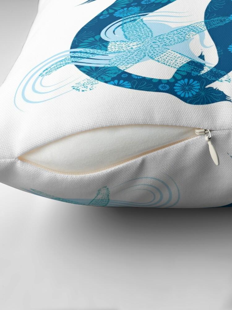 Alternate view of Mermaid Starfish Underwater Throw Pillow