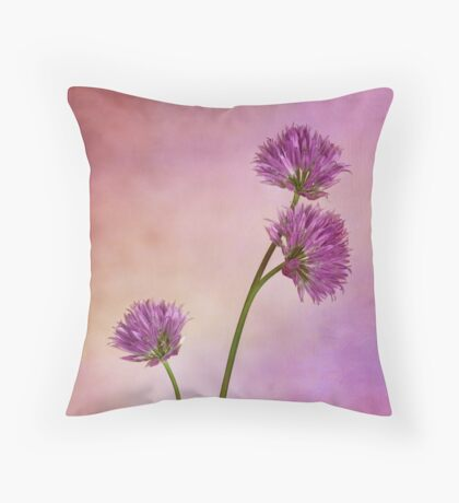 Chive Blossoms Throw Pillow