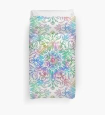 Nature Mandala in Rainbow Hues Duvet Cover