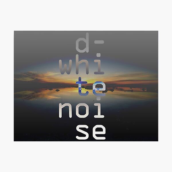 D-White Noise - sunset beach stack - merch Photographic Print