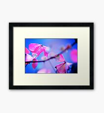When Pink meet Blue: On featured: The Power of Simplicity Group Framed Print