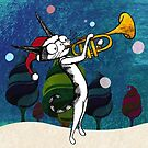 Cat with a trumpet by MissKoo