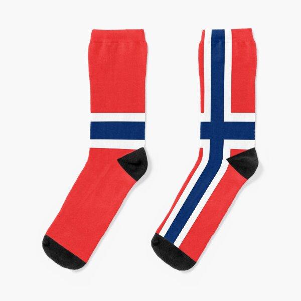Norwegian Flag And Lgbt Flag Printed Crew Socks Warm Over Boots Stocking Trendy Warm Sports Socks