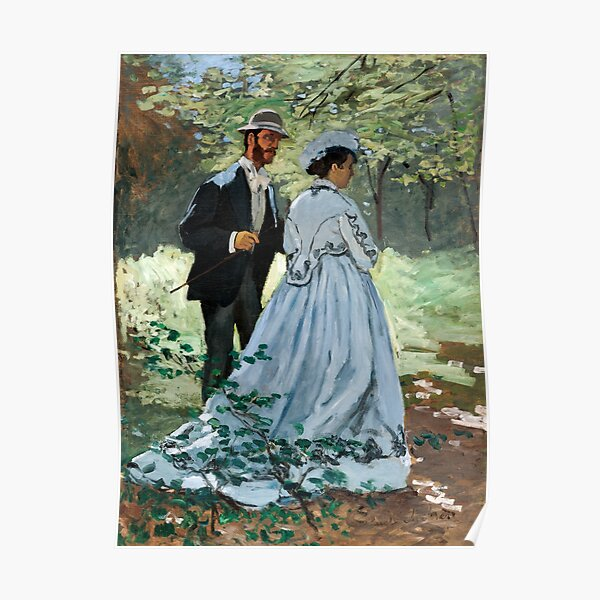 Claude Monet - Bazille and Camille Poster