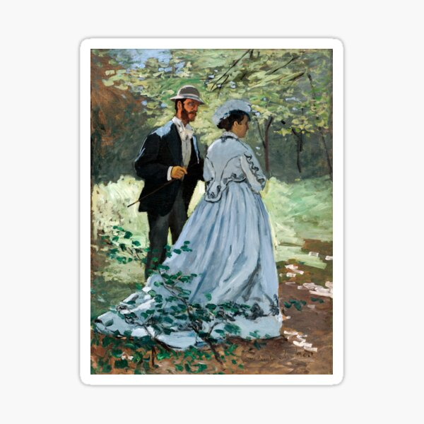 Claude Monet - Bazille and Camille Sticker