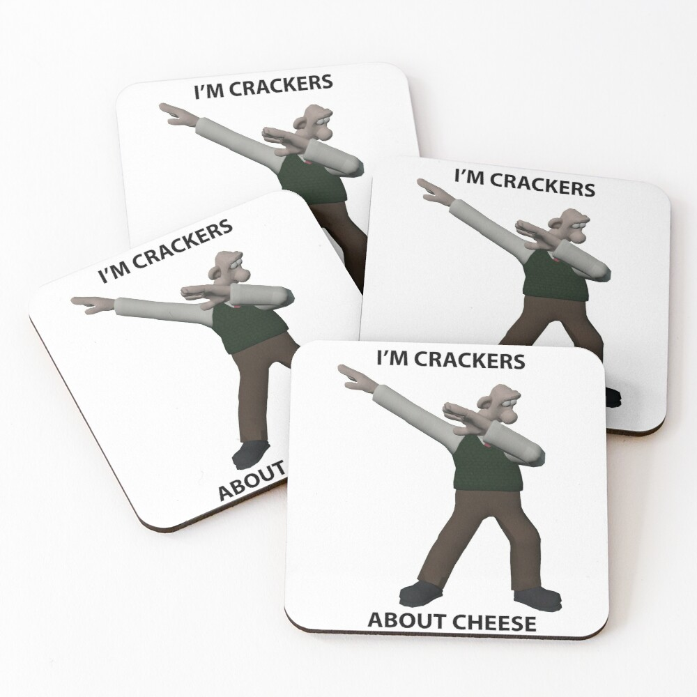 I'm Crackers About Cheese!! Coasters (Set of 4)