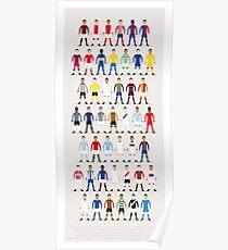 Fußball-Kits der Welt Poster