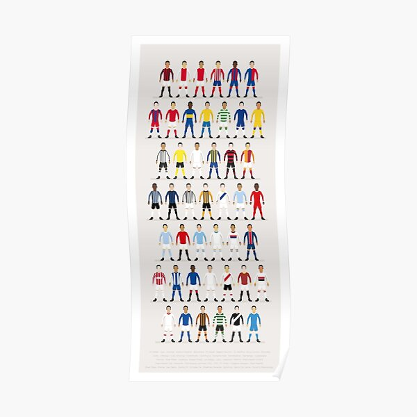 Football Kits of the World Poster