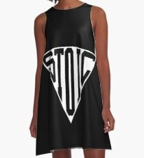 Stoic Triangle - Black Letters A-Line Dress
