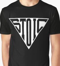 Stoic Triangle - Black Letters Graphic T-Shirt