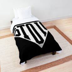 Stoic Triangle - Black Letters Comforter