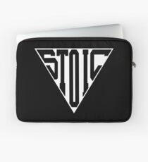 Stoic Triangle - Black Letters Laptop Sleeve