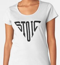 Stoic Triangle - Black Letters Premium Scoop T-Shirt
