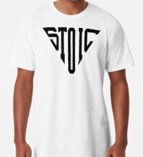 Stoic Triangle - Black Letters Long T-Shirt