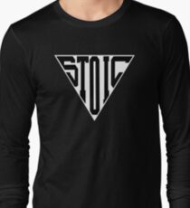 Stoic Triangle - Black Letters Long Sleeve T-Shirt