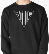 Stoic Triangle - Black Letters Pullover Sweatshirt