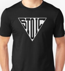 Stoic Triangle - Black Letters Slim Fit T-Shirt
