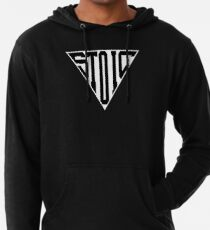 Stoic Triangle - Black Letters Lightweight Hoodie