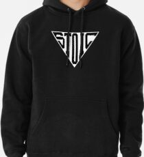 Stoic Triangle - Black Letters Pullover Hoodie