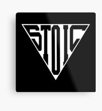 Stoic Triangle - Black Letters Metal Print