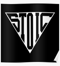 Stoic Triangle - Black Letters Poster