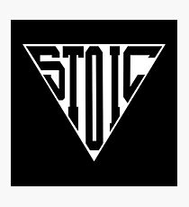 Stoic Triangle - Black Letters Photographic Print