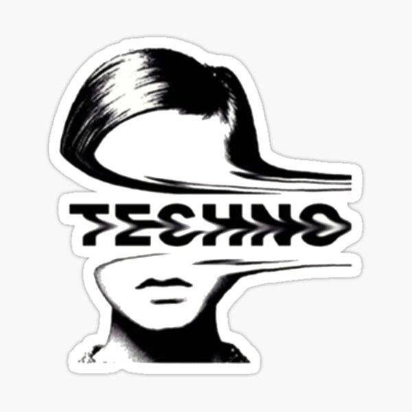 Musique techno Sticker