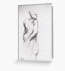 drawing 3 about Nijinsky of Rodin Greeting Card