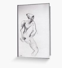 drawing 4 about Nijinsky of Rodin Greeting Card