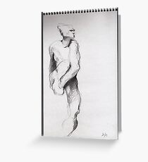 Drawing #5 = Nijinsky, The Afternoon of a Faun by Rodin Greeting Card