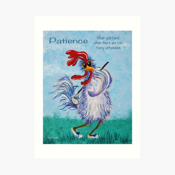 Golfing chicken Art Print