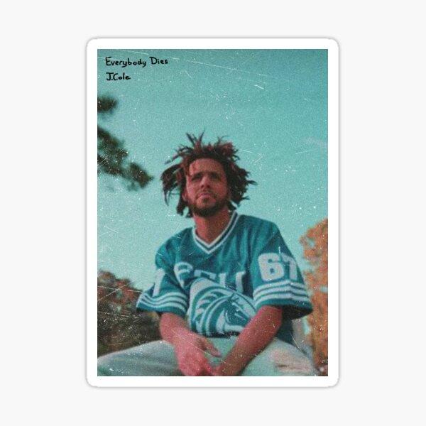 J. Cole (Writing/No Border) Sticker