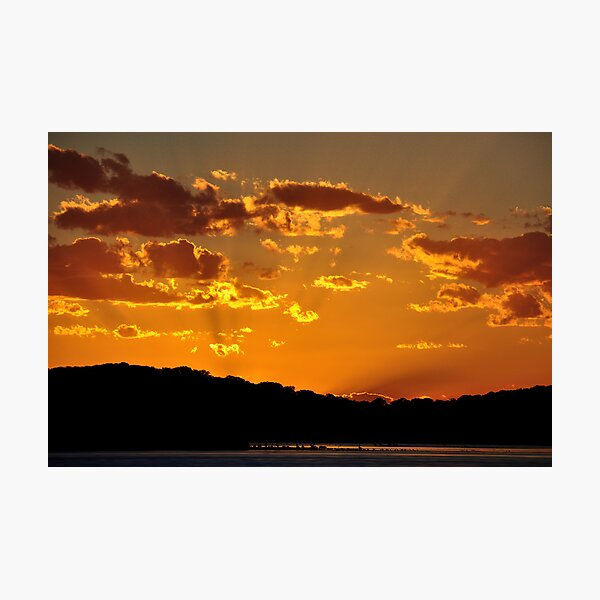 Golden Christmas Sunet - Lake Macquarie NSW Australia Photographic Print