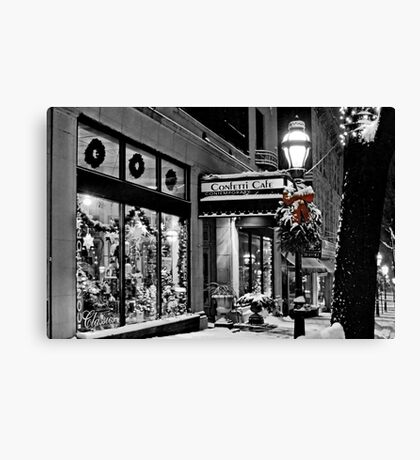 Confetti Cafe Canvas Print