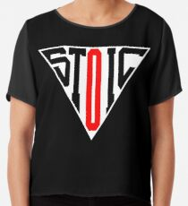 Stoic Triangle - Black Red Chiffon Top