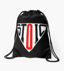 Stoic Triangle - Black Red Drawstring Bag