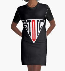 Stoic Triangle - Black Red Graphic T-Shirt Dress