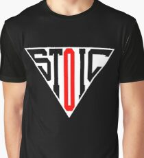 Stoic Triangle - Black Red Graphic T-Shirt