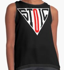 Stoic Triangle - Black Red Sleeveless Top