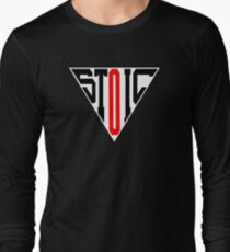 Stoic Triangle - Black Red Long Sleeve T-Shirt